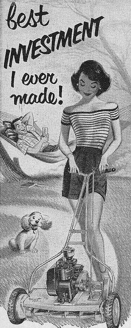 Worcester Lawn Mower Ad 1952 by hmdavid, via Flickr