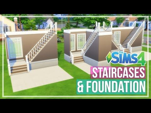 The Sims 4 How To Do L Shaped Stairs Youtube Sims Building