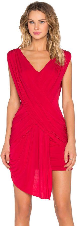 BCBGMAXAZRIA Draped Mini Dress