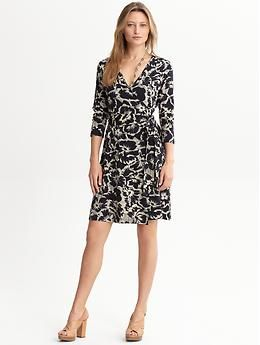 Gemma floral wrap dress | Banana Republic