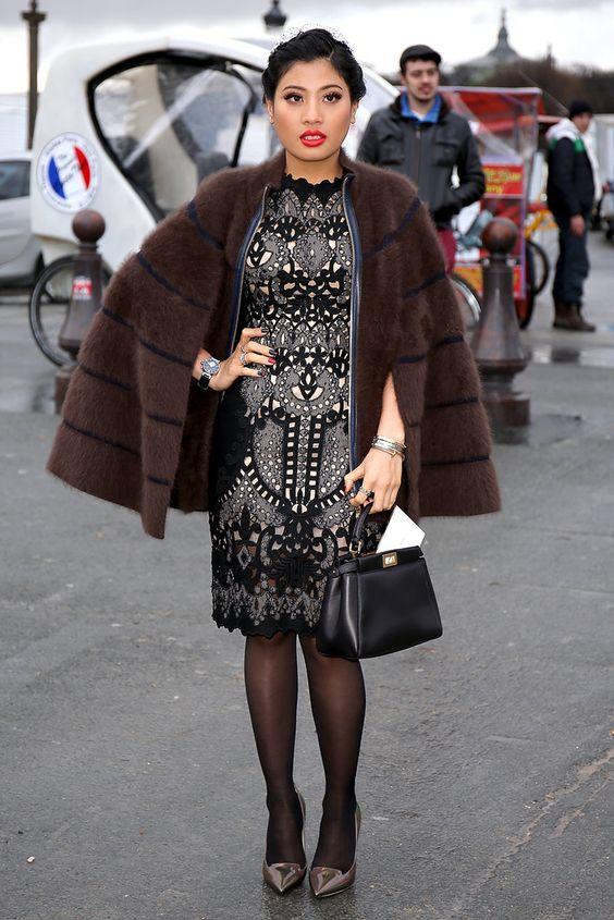 This princess has style at Ellie Saab. #PFW