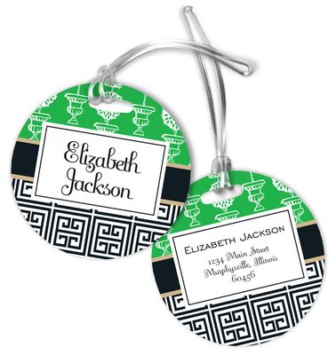 Mixed Topiary Luggage Tags