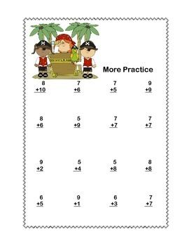 Math Addition & Subtraction Within 20 Worksheets-Fun Pirate Theme ...