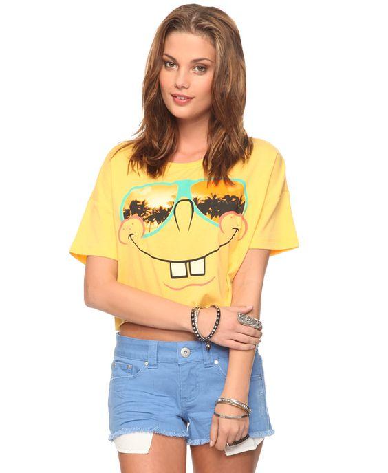 Cool SpongeBob SquarePants Tee | FOREVER21 - 2000042388