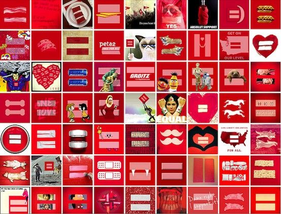 Equal Rights Sign Parody Human rights collage marriage equality ...