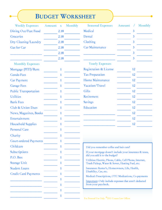 save money on a budget free printable Budgeting, Planners and - travel expense calculator template