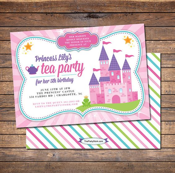 Hey, I found this really awesome Etsy listing at https://www.etsy.com/listing/187944152/princess-tea-party-invitation-printable