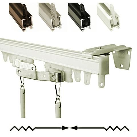 Split Baton Draw Ceiling Mount Ceiling Curtain Track Ceiling