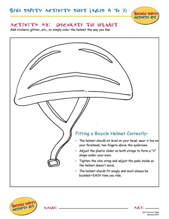 safety gear coloring pages - photo#18