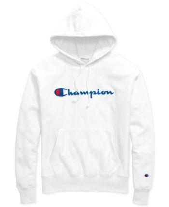 Blue Champion Men/'s Logo Pullover Hoodie