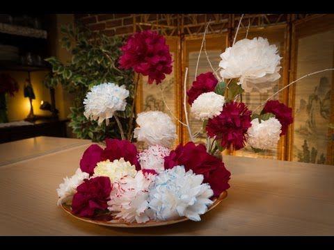 Flores de papel de servilletas con javier moyano paper - Youtube manualidades de papel ...