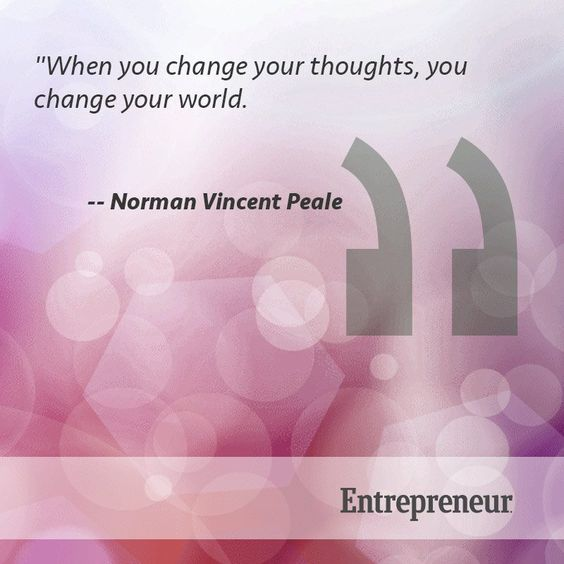 Change your thoughts