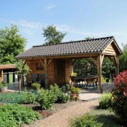 Schuur veranda oranjewoud vrijstaande houten berging for Berging met veranda