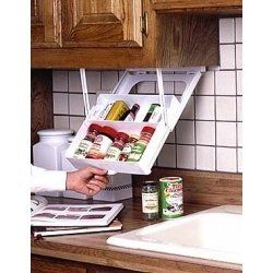 Kitchen spice rack caravan first aid under cupboard for Caravan kitchen storage ideas