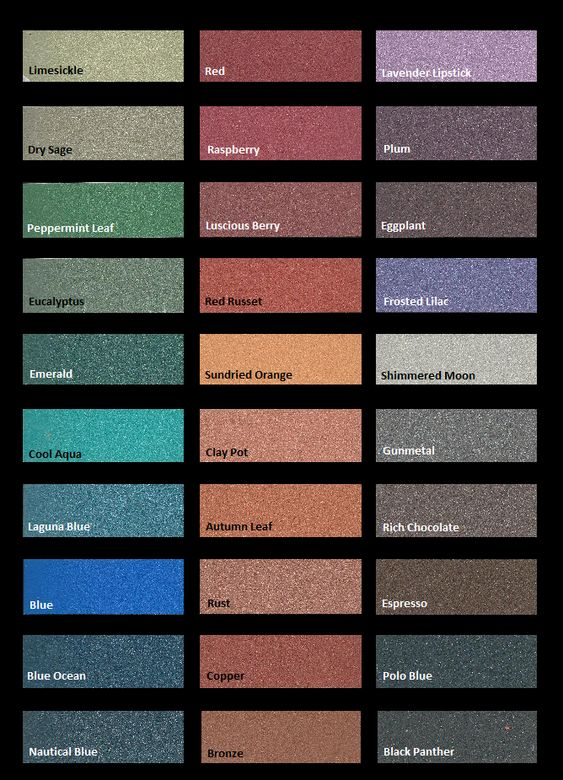 Metallic wall paint colour chart 1 wall decal for Color charts for painting walls