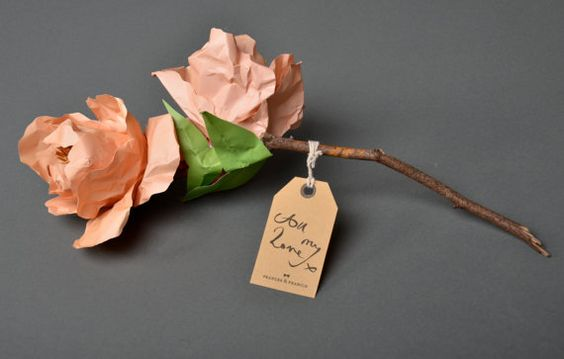 Each paper flower gift is unique as they are individually hand crafted so may differ slightly to images seen.