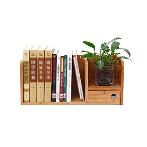 Kxbymx Desktop Small Bookshelf Desk Solid Wood Storage Rack Table With Drawer Rack Multi Function Rack S Wood Storage Rack Solid Wood Storage Small Bookshelf