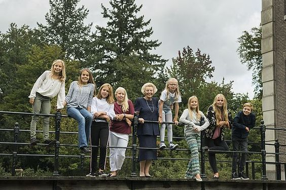 HRH Princess Beatrix 80 years with her grandchildren