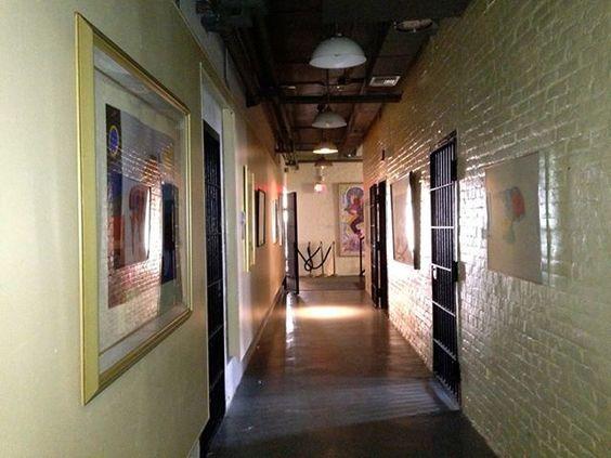 Hallway of Pensacola Museum of Art that was originally the Pensacola City Jail - photo by Linda Harris 9/17/13