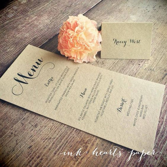 Wedding Stationery - Ink Hearts Paper