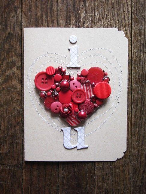 """""""i ♥ u"""" card"""