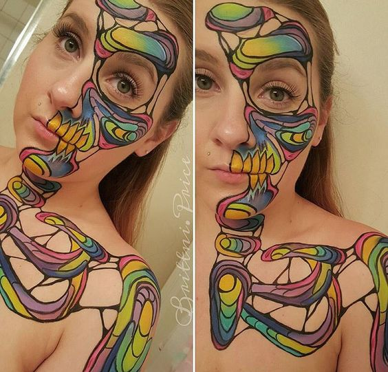 Abstract makeup