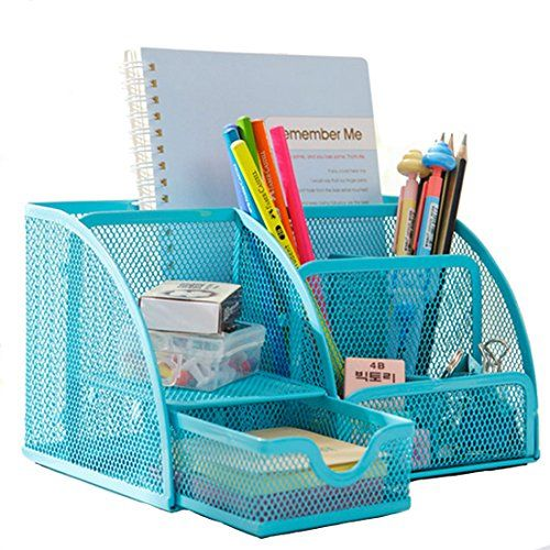 Metals mesh and stationery on pinterest - Desk stationery organiser ...