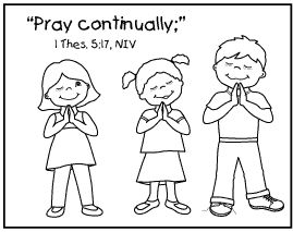 pray without ceasing coloring page pray continually bible class pinterest coloring