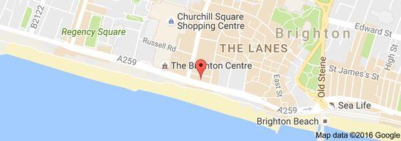 Map of Brighton Harbour Hotel & Spa