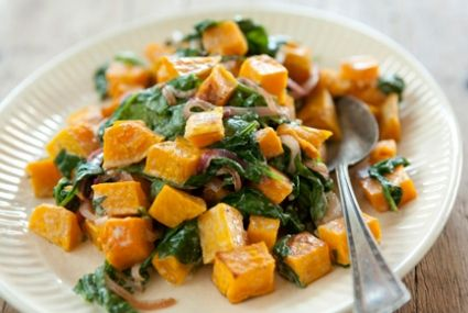 Butternut Squash with Wilted Spinach and Blue Cheese | Whole Foods Market