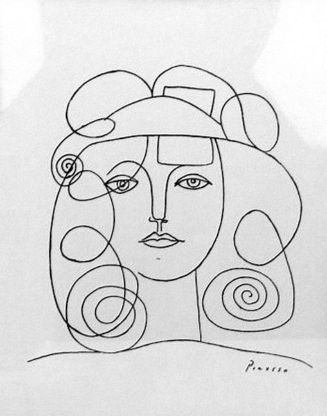 Picasso Line Drawing Face : Picasso coloriage artiste pinterest