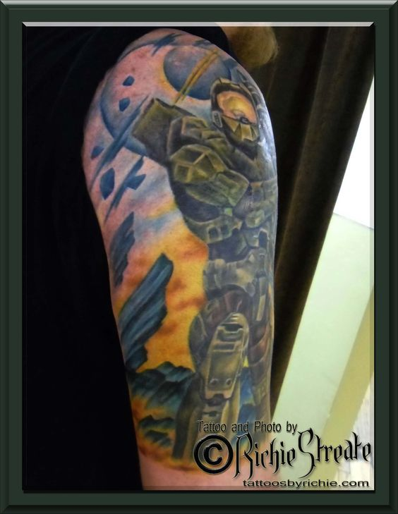 Pinterest the world s catalog of ideas for Tattoos by halo