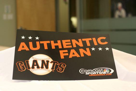 Authentic Giants Fan Cheer Card San Pan Francisco Giants