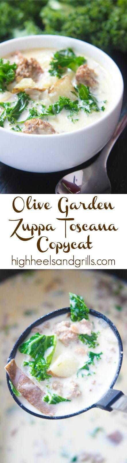 Olive garden zuppa toscana copycat gardens bacon and - Olive garden soup and salad dinner ...