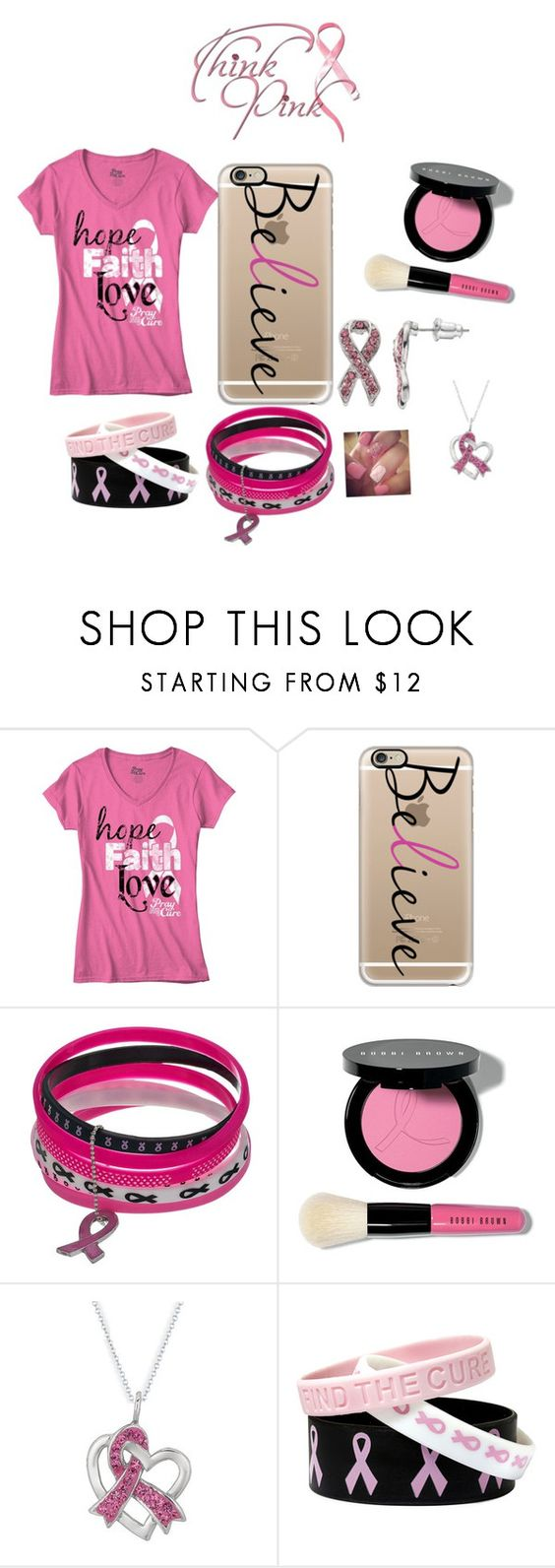 """""""THINK PINK"""" by pllfashionlife ❤ liked on Polyvore featuring Casetify and Bobbi Brown Cosmetics"""