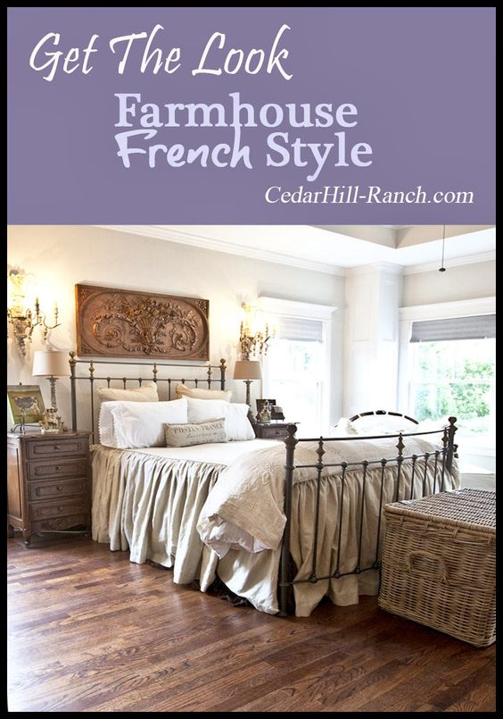 Finally the new house my bedroom beautiful french for Farmhouse master bedroom