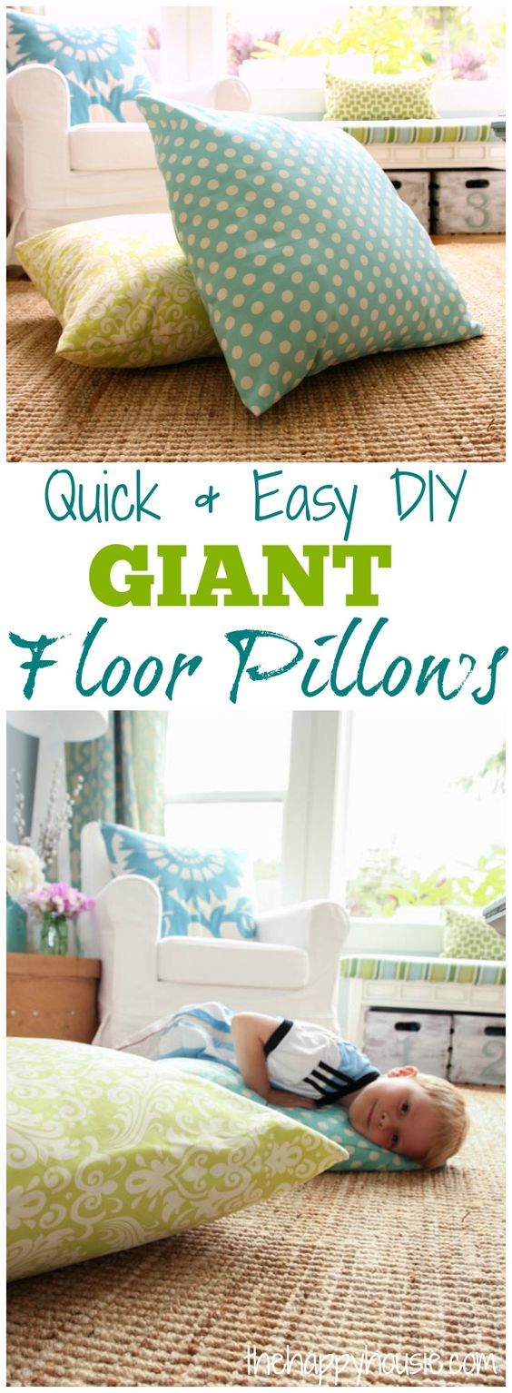 Giant Floor Pillows Floor Pillows And Easy Diy On Pinterest