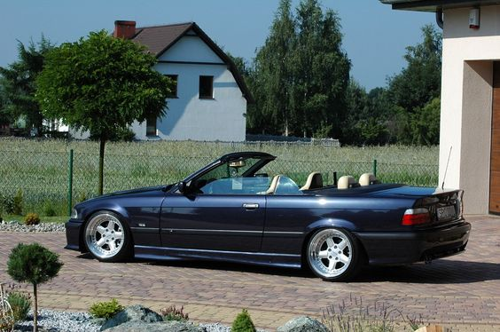 BMW e36 cabrio on cult classic OZ AC Schnitzer type 1 wheels