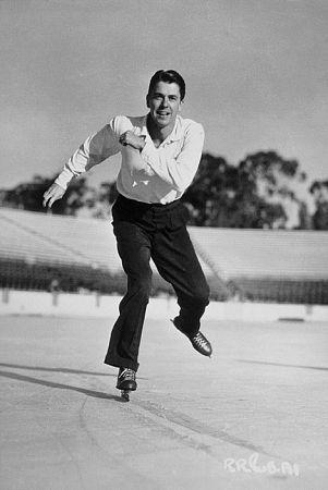 Ronald Reagan ice skating C. 1942: