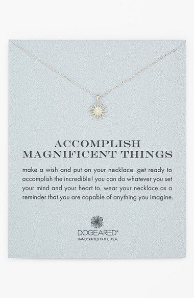accomplish magnificent things pendant necklace