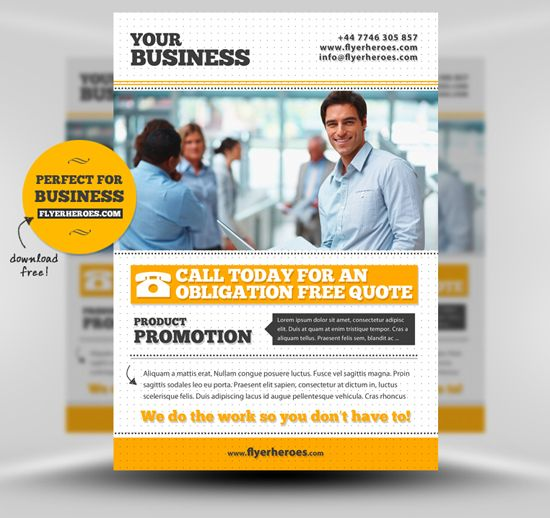 freebusinessflyertemplatesmockup Layouts Pinterest – Free Business Flyer Templates for Word