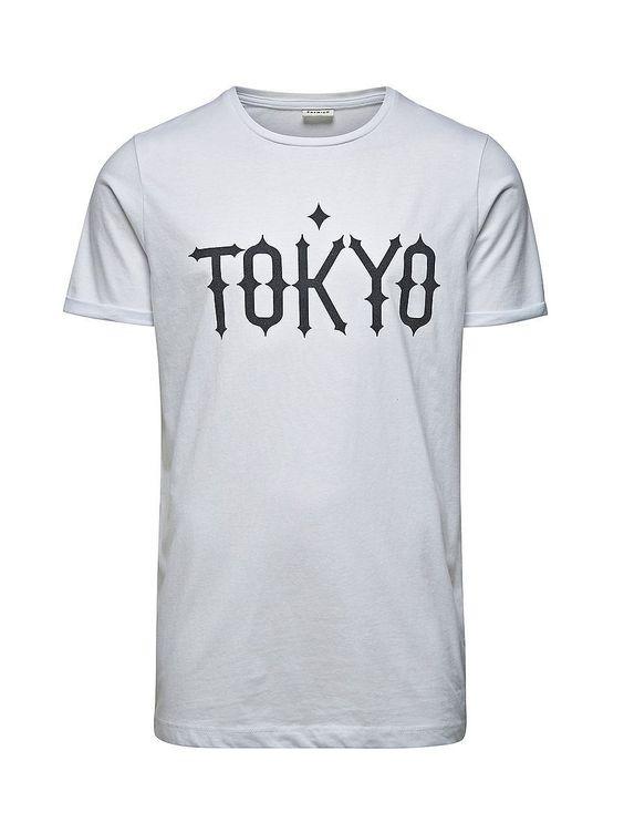 PREMIUM by JACK & JONES - T-Shirt von PREMIUM - Slim fit - Rundhals - Print auf der Vorderpartie - Aufschläge - Länger am Rücken 100% Baumwolle...