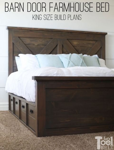 King X Barn Door Farmhouse Bed Plans Her Tool Belt Farmhouse Bed Frame Farmhouse Bedding Bed Frame Plans