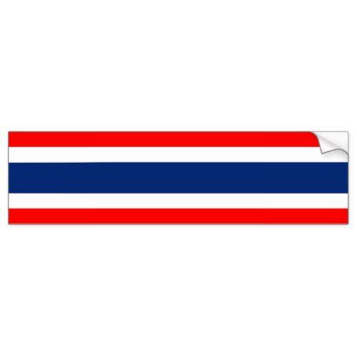 Thailand Country Flag Nation Symbol Bumper Sticker Zazzle Com Bumper Stickers Country Flags Motorcycles Logo Design