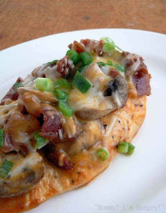 from Krissi from Katie Bell:  Bacon Mushroom Honey Dijon Chicken