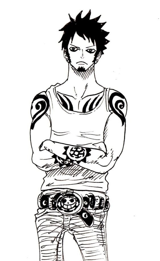 One piece water and law on pinterest for Trafalgar law tattoos