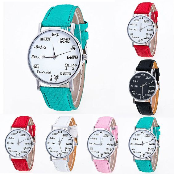 Mens Womens Fashion Faux Leather Band Quartz Analog Dress Bracelet Wrist Watch