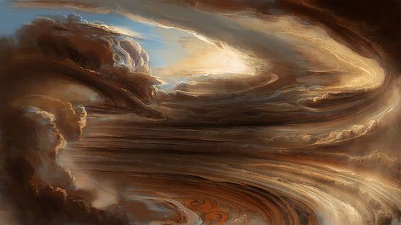 jupiter clouds Illustration
