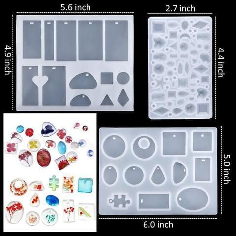 DIY Clear Jewelry Making 1 Set Basic Tools Pendant Resin Casting Mould Spoon