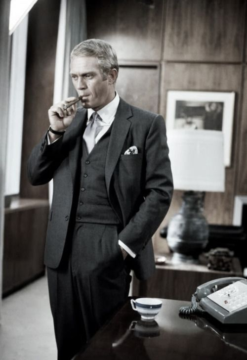 Steve McQueen in 'The Thomas Crown Affair', 1968. It was such a loss to lose such a talented man at such a young age.